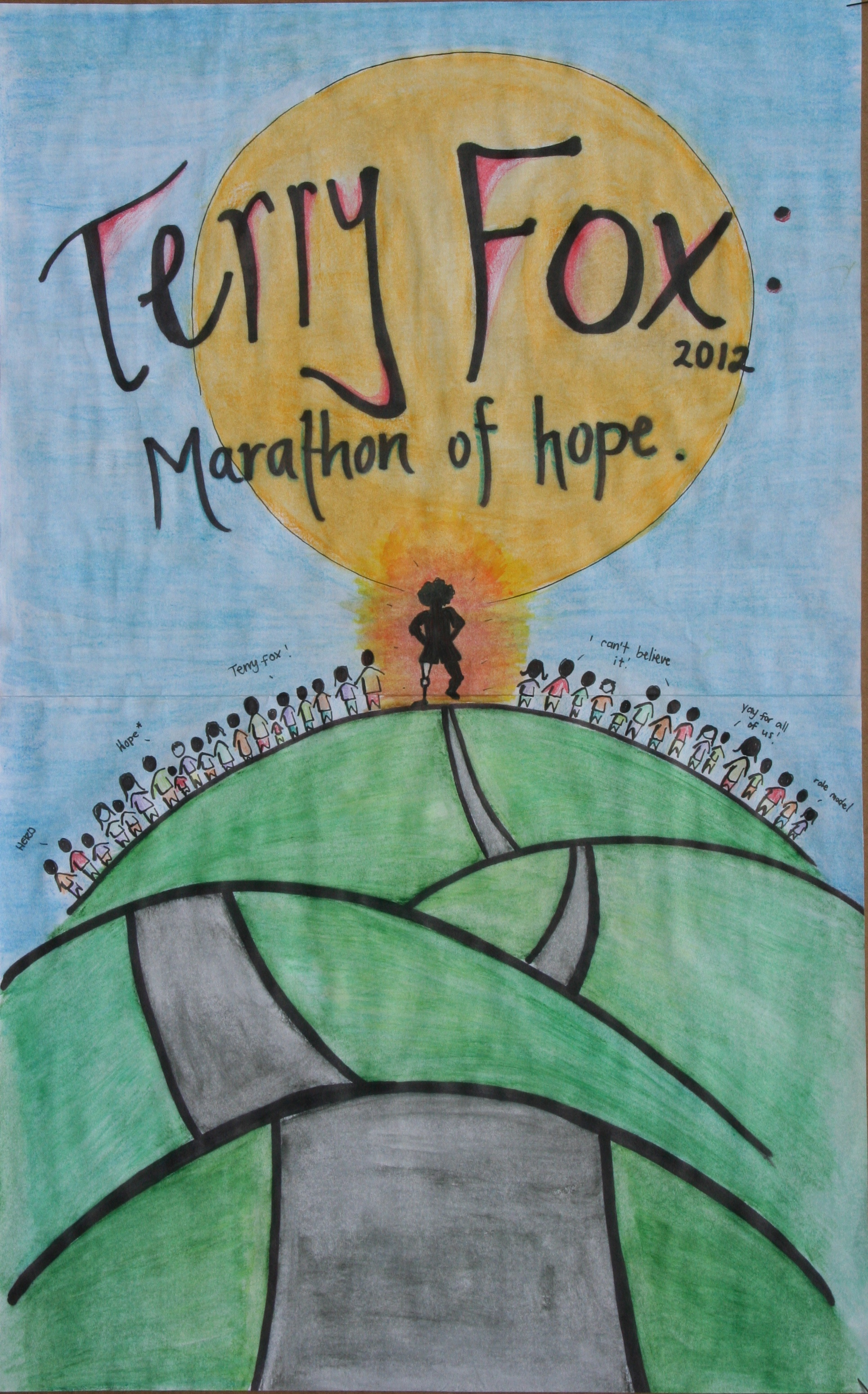 TERRY FOX POSTER CONTEST     WINNERS ANNOUNCEMENTTerry Fox Poster